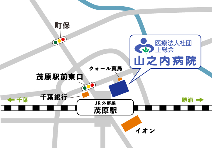 山之内病院周辺地図
